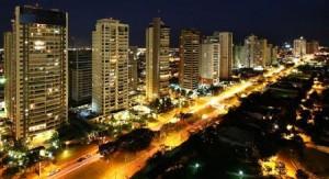 Vista noturna de Ribeirão Preto
