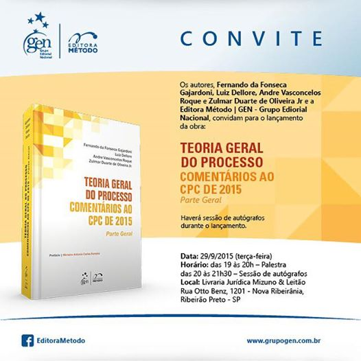 Convite - Lançamento livro - Gajardoni